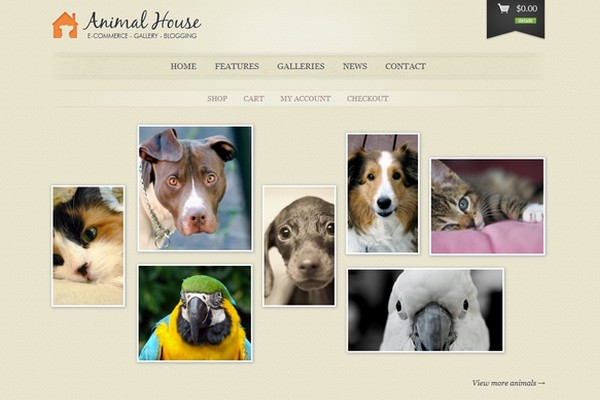 Animal House - E-Commerce and Blogging Theme