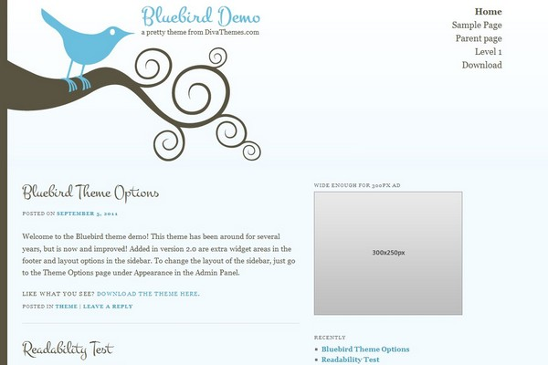 Bluebird Free WordPress Theme