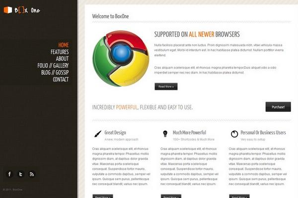 Box One - One Page Business WordPress Theme