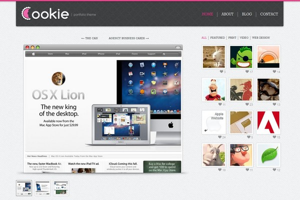 Cookie – AJAX and Animated WordPress Portfolio Theme