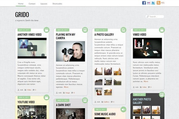 Grido - A Tumblr-like WordPress Theme
