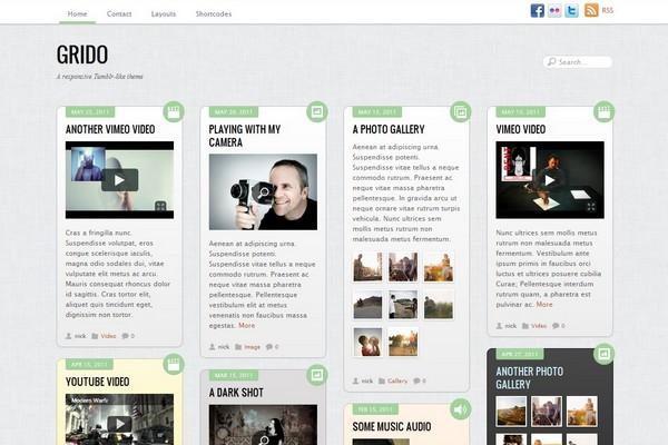 Grido - A Tumblr-like Responsive WordPress Theme