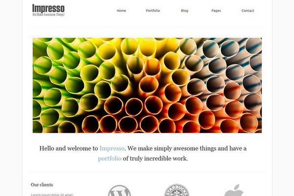 Impresso Portfolio WordPress Theme