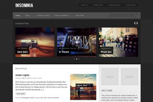 Insomnia Free WordPress Theme