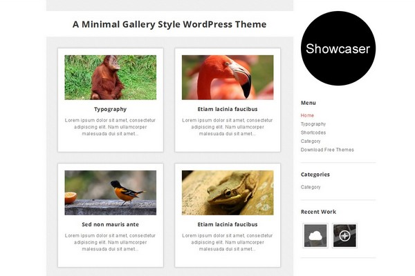 Showcaser Free WordPress Theme