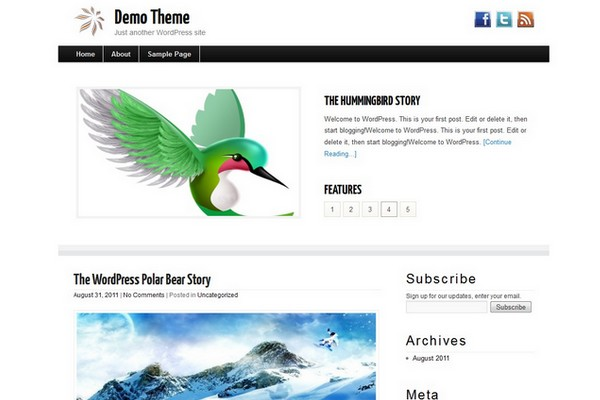 SimpleBlogger Free WordPress Theme