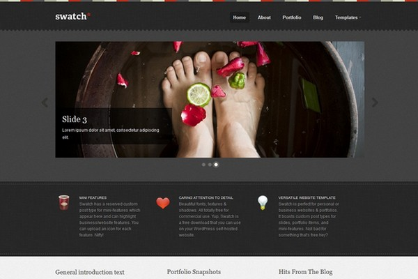 Swatch Free WordPress Theme