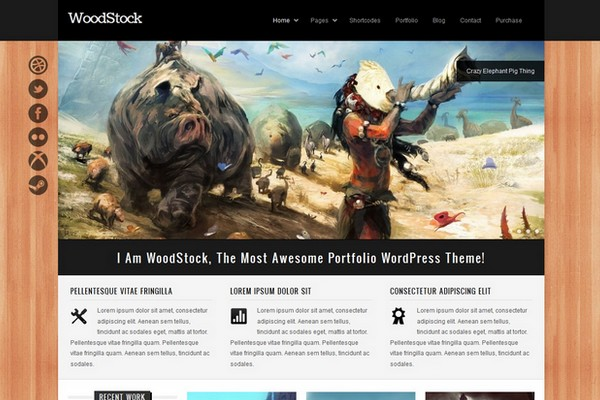 WoodStock - A Creative Portfolio WordPress Theme