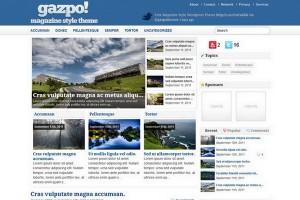 gazpoMag Free WordPress Theme