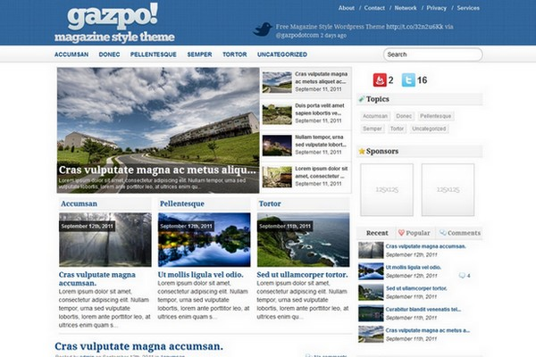 gazpoMag Free WordPress Theme