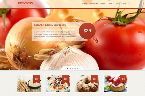 Delicioso - A Delicious WordPress Restaurant Theme