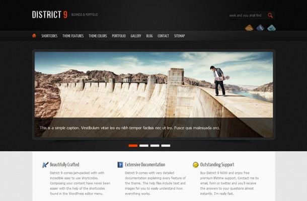 District 9 WordPress Theme