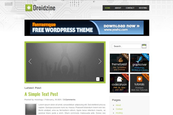 Droidzine Free WordPress Theme