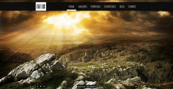 FIAT LUX - Fullscreen Image & Video Background WordPress Theme