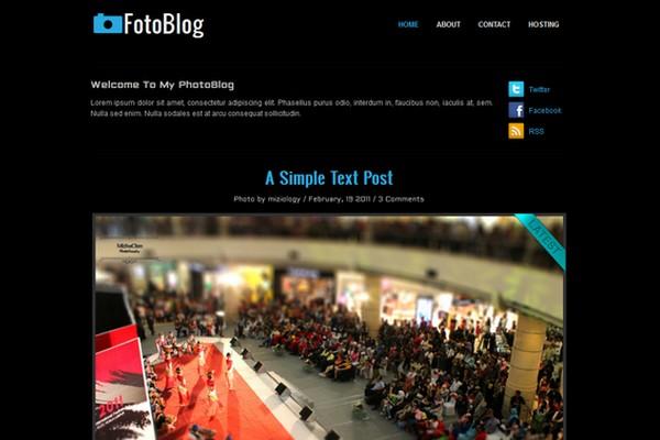 FotoBlog Free WordPress Theme