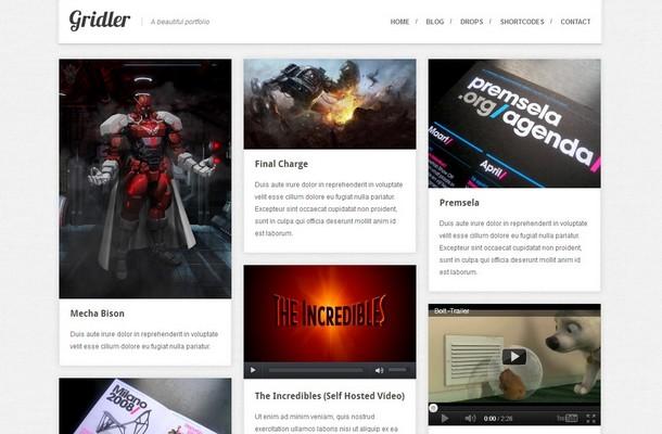 Gridler - WordPress Portfolio Theme