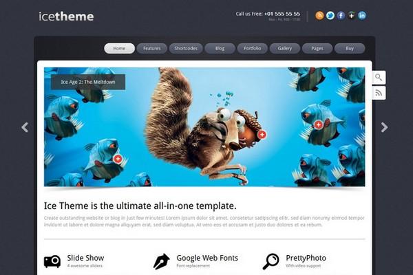 Ice Theme - A Powerful WordPress Theme