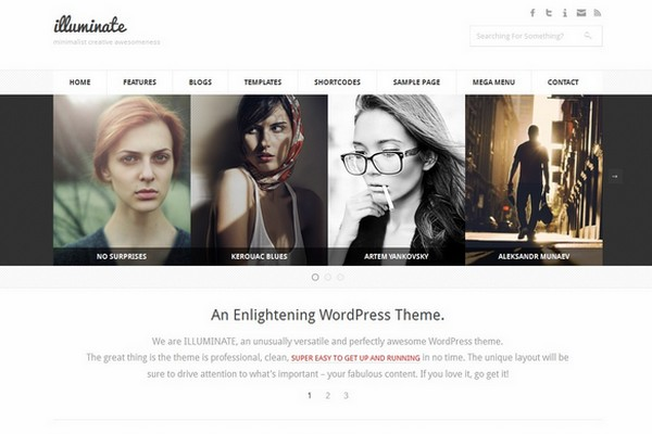 Illuminate - A Minimalist & Creative WordPress Theme