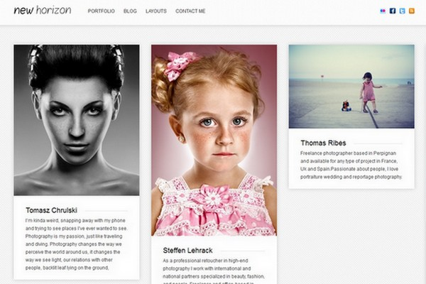 New Horizon - A Blog & Portfolio WordPress Theme