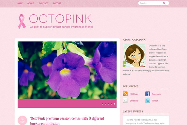 OctoPink Free WordPress Theme