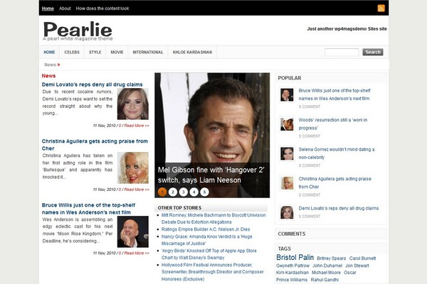 Pearlie Free WordPress Theme