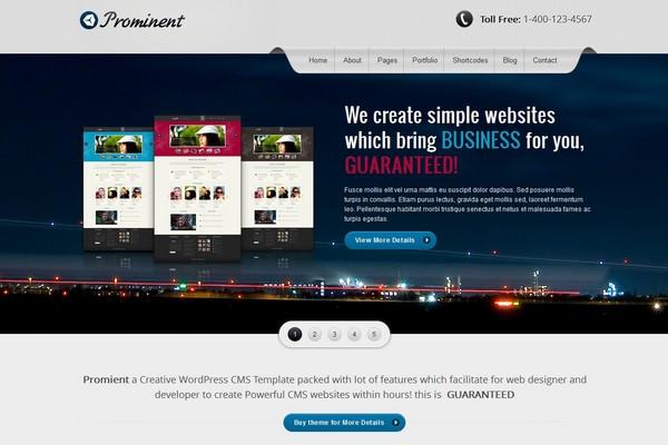 Prominent - A Creative CMS Wordpress Theme