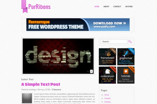 PurRibons Free WordPress Theme