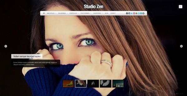 Studio Zen Fullscreen WordPress Theme