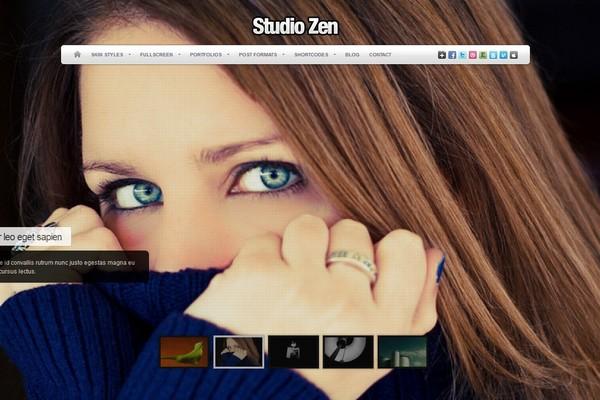 Studio Zen - A Fullscreen Portfolio WordPress Theme