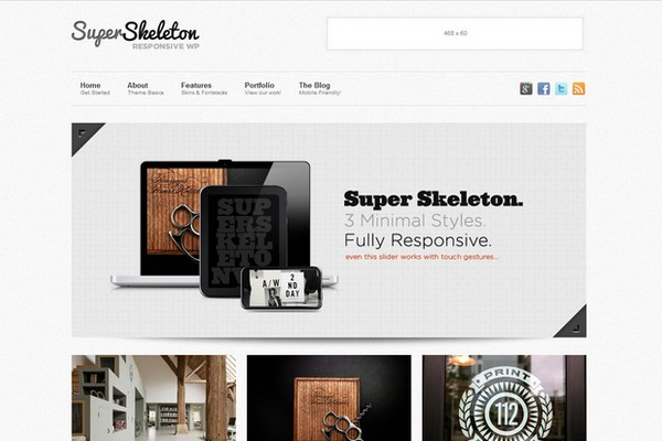 SuperSkeleton - A Responsive WordPress Theme