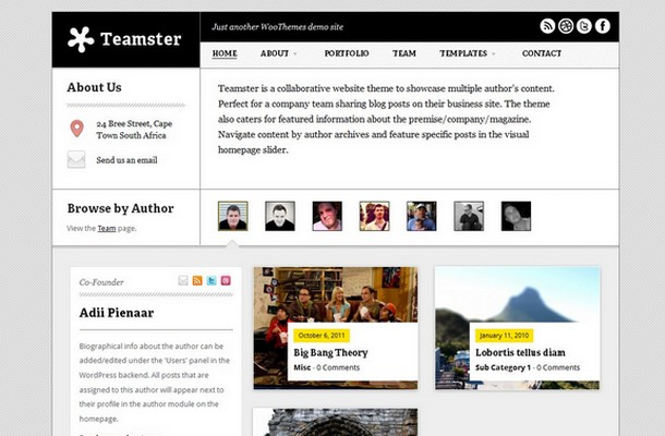 Teamster WordPress Theme
