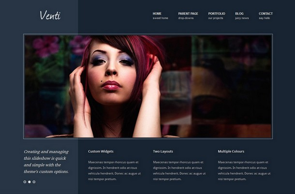 Venti - A business WordPress Theme