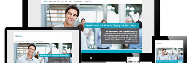 Attitude Free Retina Ready WordPress Theme