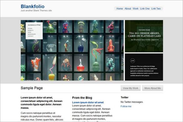 Blankfolio is a Free WordPress Theme