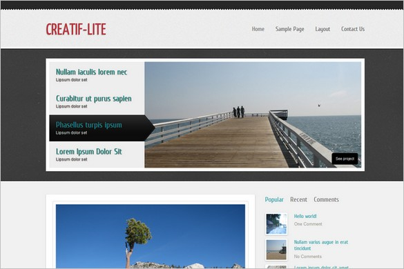 Creatif-Lite is a free WordPress Theme by WPCrown