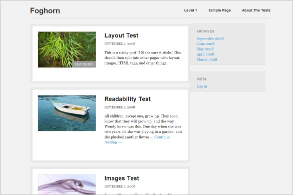 Foghorn - A  WordPress Theme with responsive design