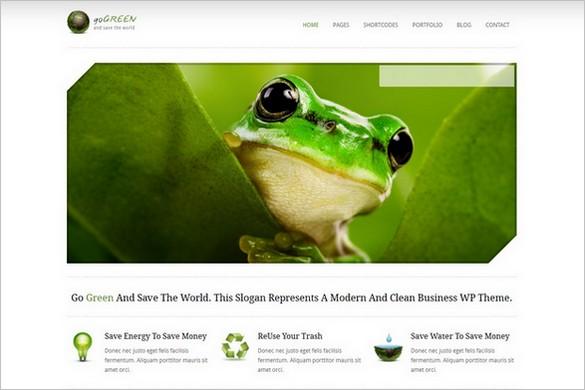 Go Green - A Modern Portfolio WordPress Theme