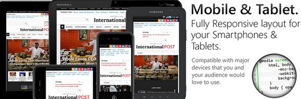 InternationalPost Newspaper & Magazine WordPress Theme