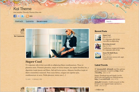 Koi is a free WordPress Theme by Themify