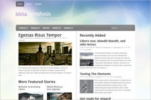 Meta-Morphosis is a free WordPress Theme by Woo Themes