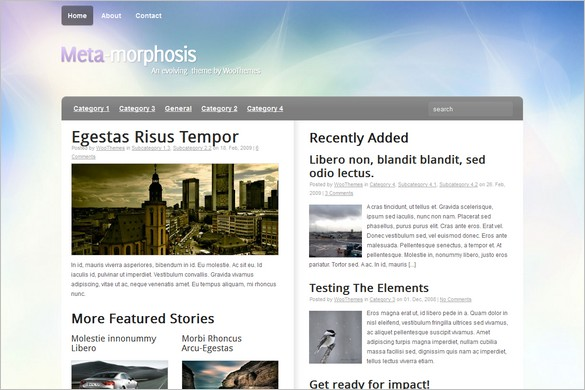 Meta-Morphosis is a free WordPress Theme by Woo Themes