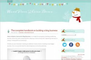 Mistletoe is a free WordPress Theme by SimplyWP