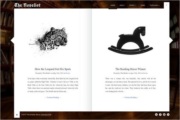 The Novelist Responsive WordPress Theme