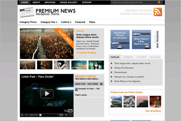 The Original Premium News is a free WordPress Theme by Woo Themes