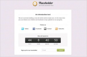 Placeholder is a free WordPress Theme by Woo Themes