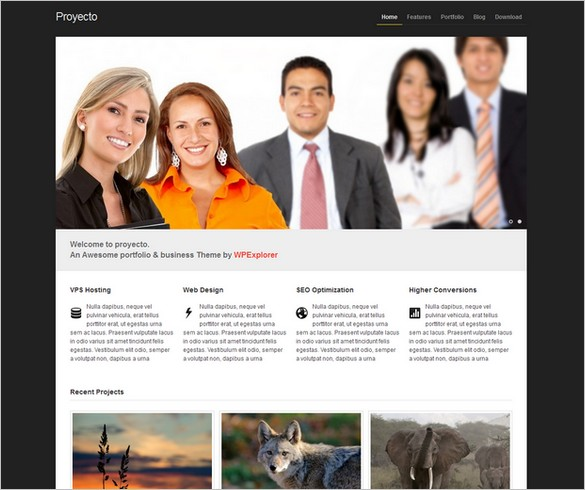 Proyecto is a free WordPress Theme by WPExplorer.com