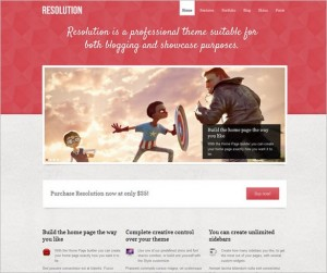 Resolution - A Showcase WordPress Theme