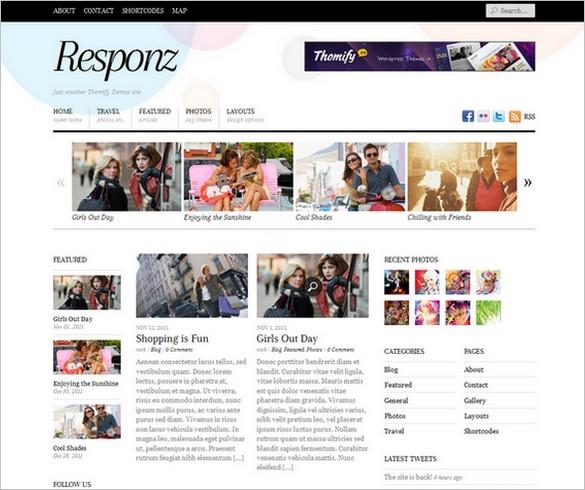 Responz - A WordPress Theme with responsive design