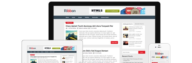 Ribbon Free Magazine WordPress Theme from MyThemeShop