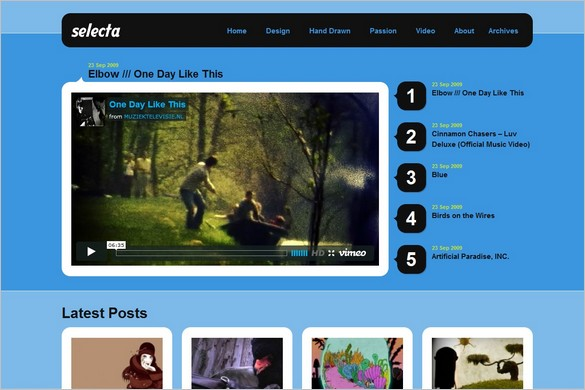Selecta is a free WordPress Theme by Obox
